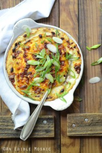 Steakhouse-Style Loaded Cheesy Cauliflower Mash
