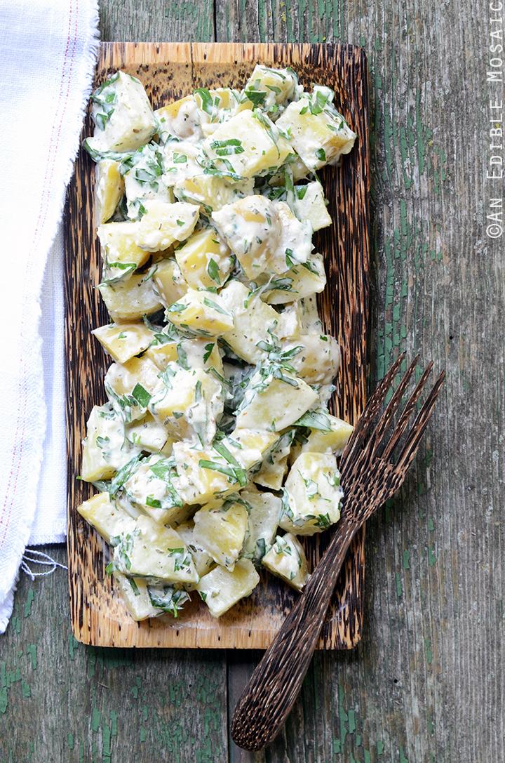 Creamy Dijon Potato Salad with Herbes de Provence