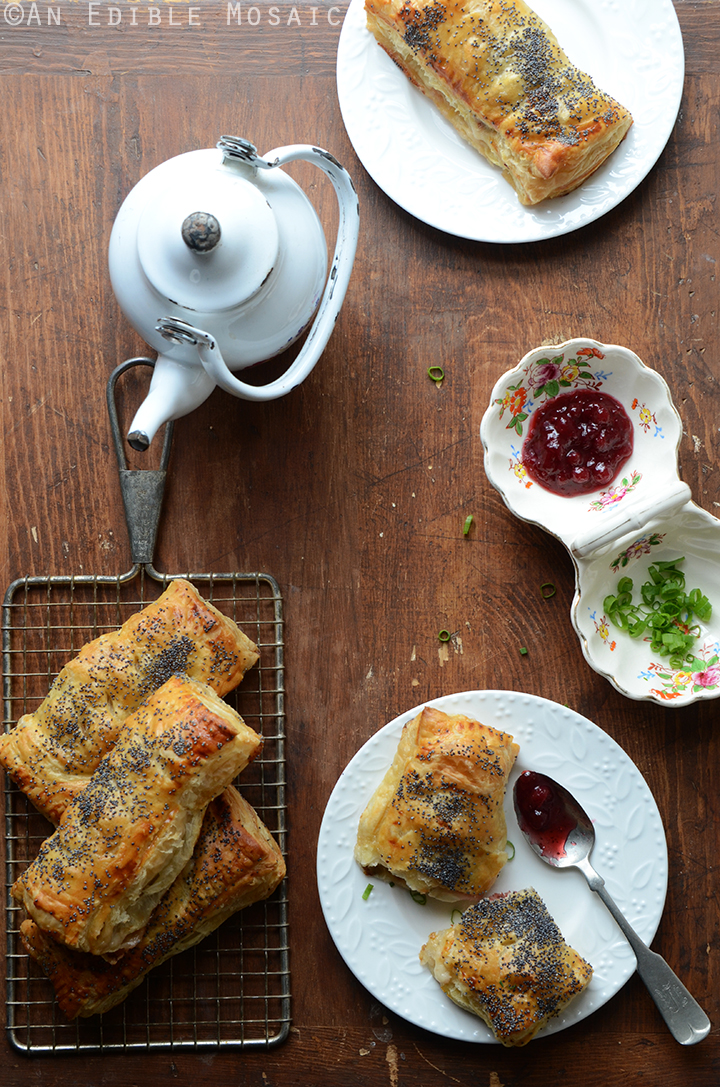 savory-camembert-turnovers-with-honey-roasted-turkey-and-lingonberry-jam