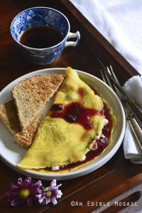 Ricotta-Stuffed Omelet with Cherry Preserves {Gluten-Free}