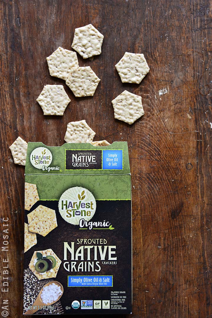 Harvest Stone Crackers on Wooden Background