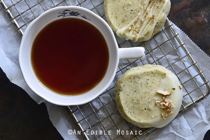 Chai-Spiced Vanilla Shortbread Cookies Top View Horizontal Orientation