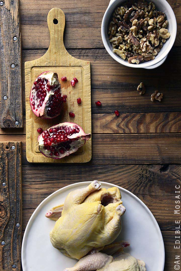 Persian Inspired Cornish Hens with Pomegranate Walnut Sauce Ingredients