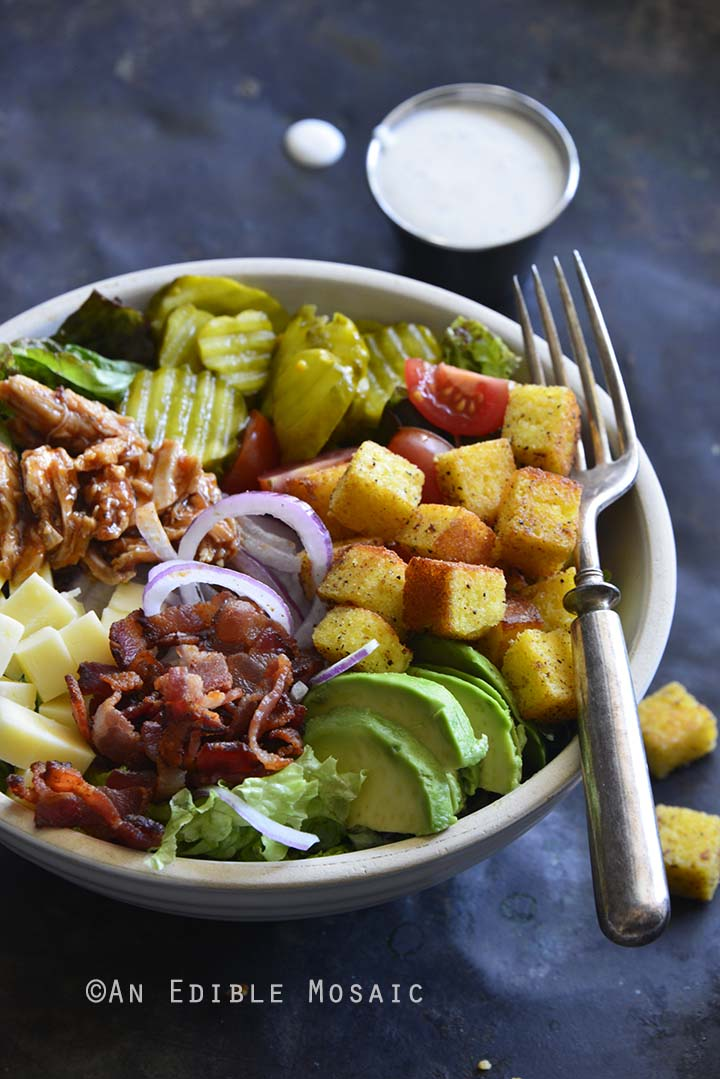 Keto BBQ Chicken Salad Bowls Front View