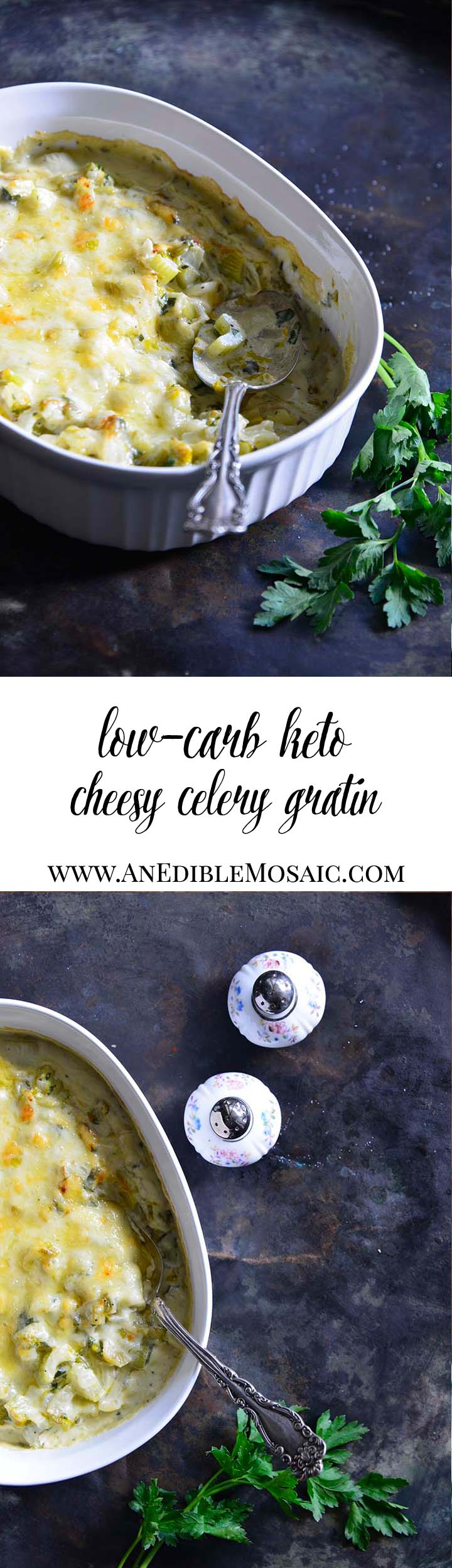Low-Carb Cheesy Celery Gratin Long Pin