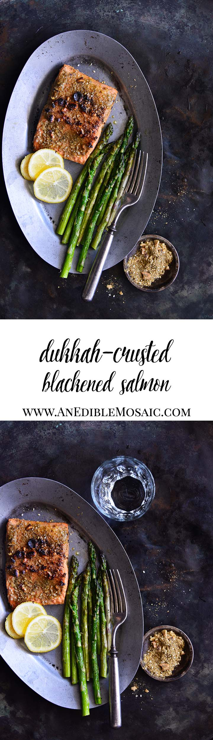 Dukkah-Crusted Blackened Salmon Long Pin