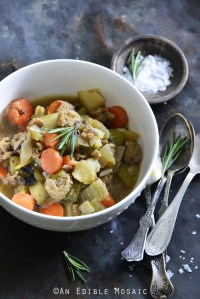 Instant Pot Chicken Sausage Guinness Stew Close Up