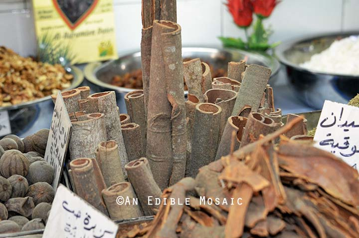 Dried Bark at Middle Eastern Spice Market in Syria