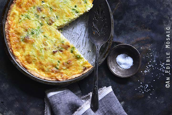 Close Up of Low-Carb Keto Quiche Lorraine