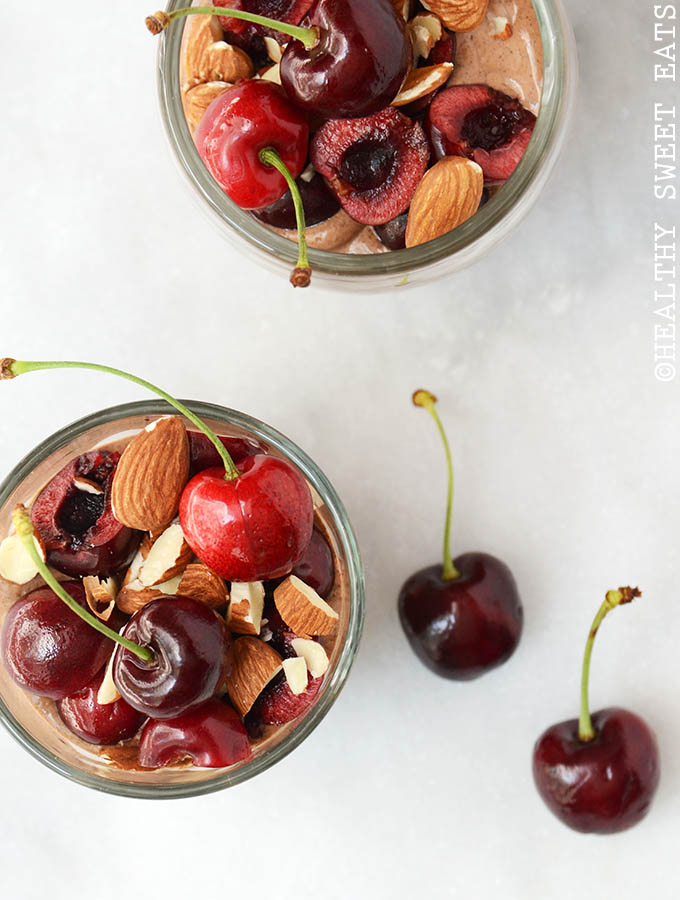 Low-Carb Overnight Black Forest Mocha Chia Seed Pudding
