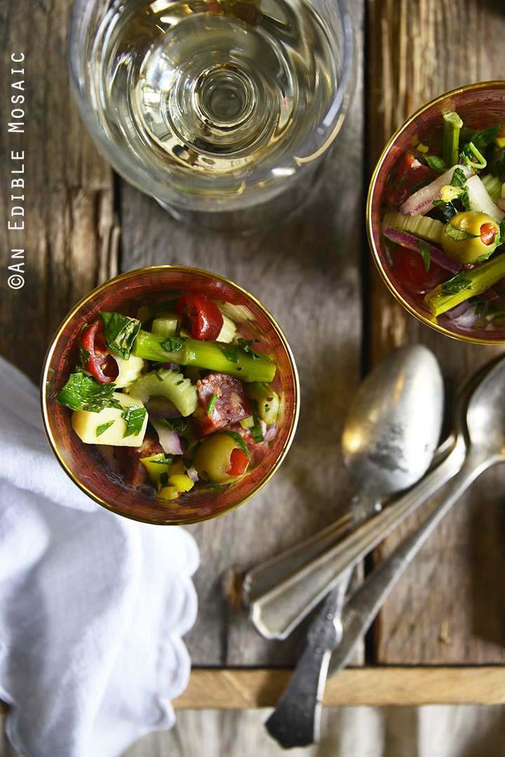 Roasted Asparagus Antipasta Salad