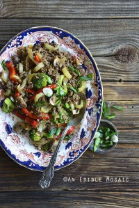 30-Minute Low-Carb Sesame Vegetable Beef Stir Fry