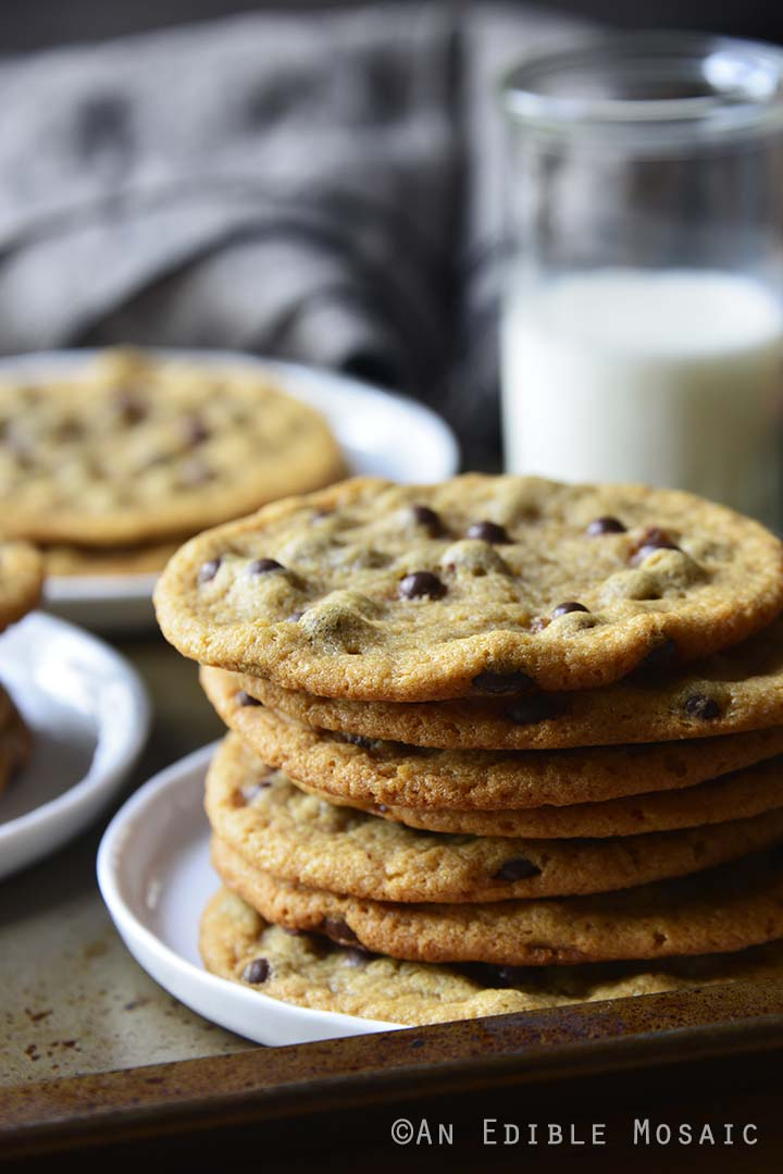 Thin and Crispy Chocolate Malted Milk Ball Cookies