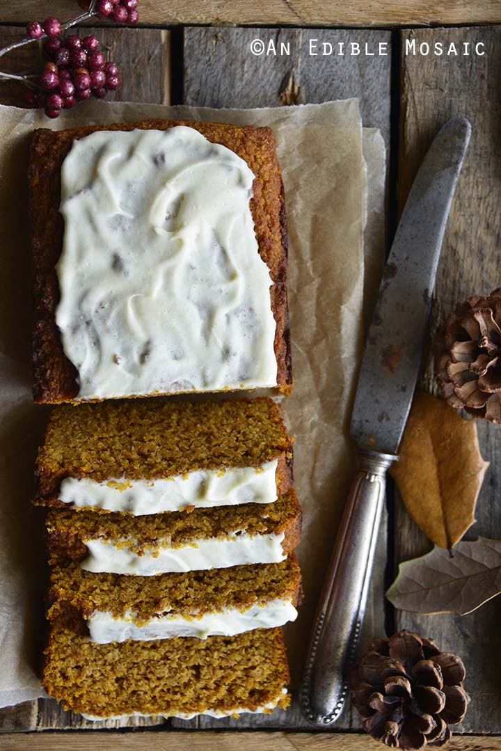 Gluten Free Pumpkin Bread Recipe on Wooden Table