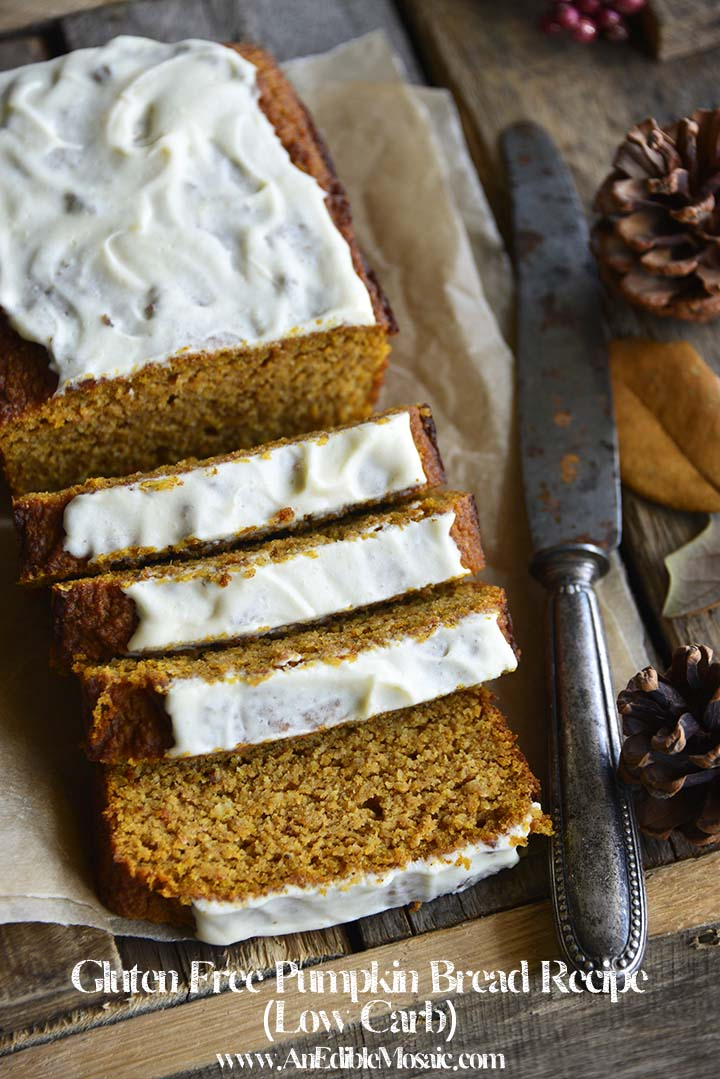 This #GlutenFree Pumpkin Bread Recipe is a #lowcarb dream come true; it's moist with great texture and is packed with sweetly spiced pumpkin flavor. #keto