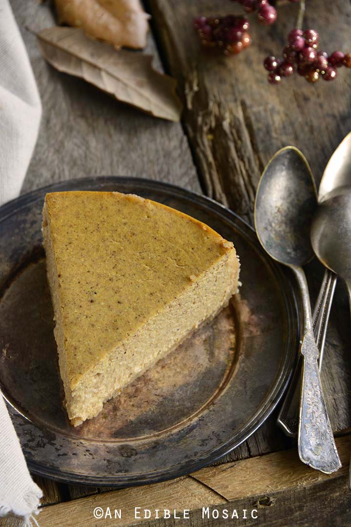 Whole Slice of Low Carb Pumpkin Spice Cheesecake Recipe