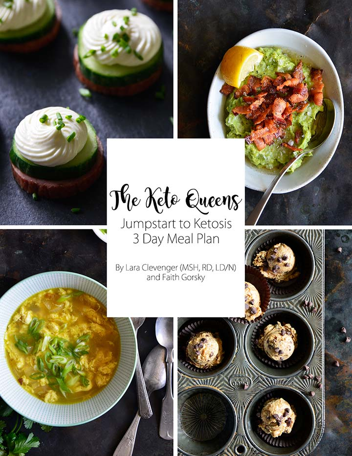 The Keto Queens Jumpstart to Ketosis 3 Day Meal Plan Cover