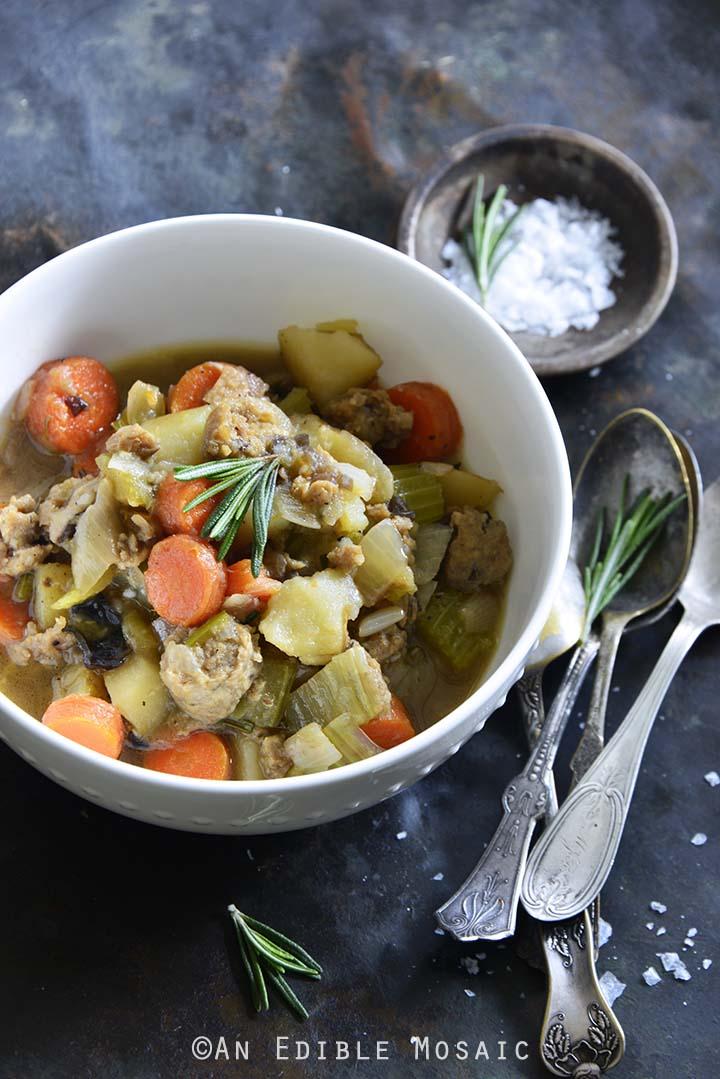 Instant Pot Chicken Sausage Guinness Stew