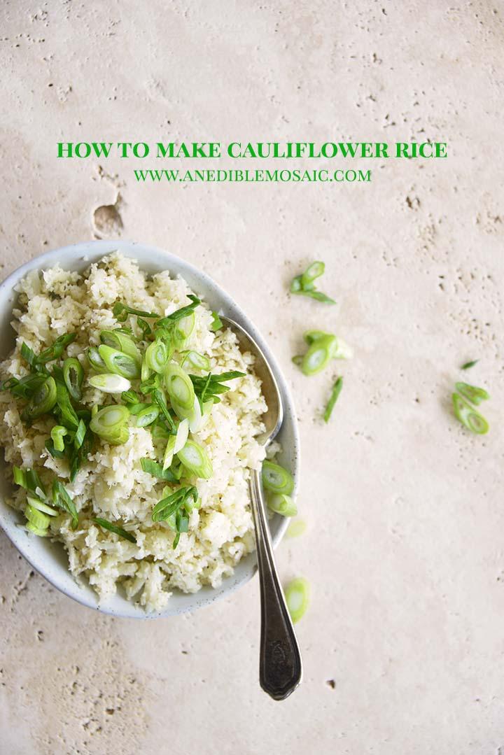 How to Make Cauliflower Rice Pin