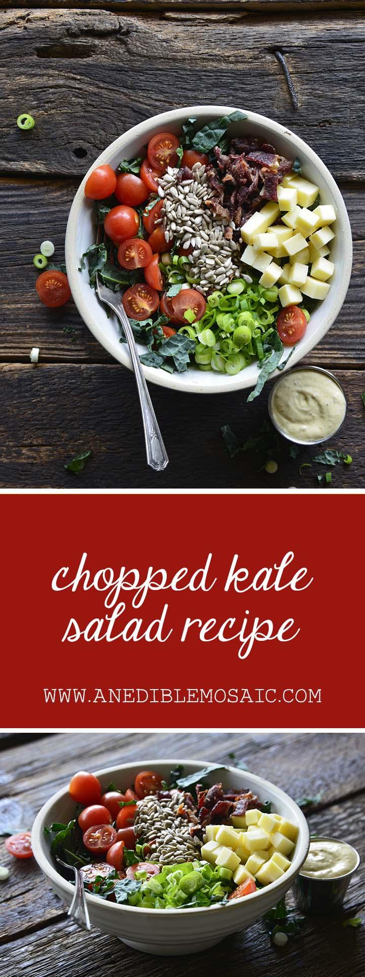 Chopped Kale Salad Recipe Pin