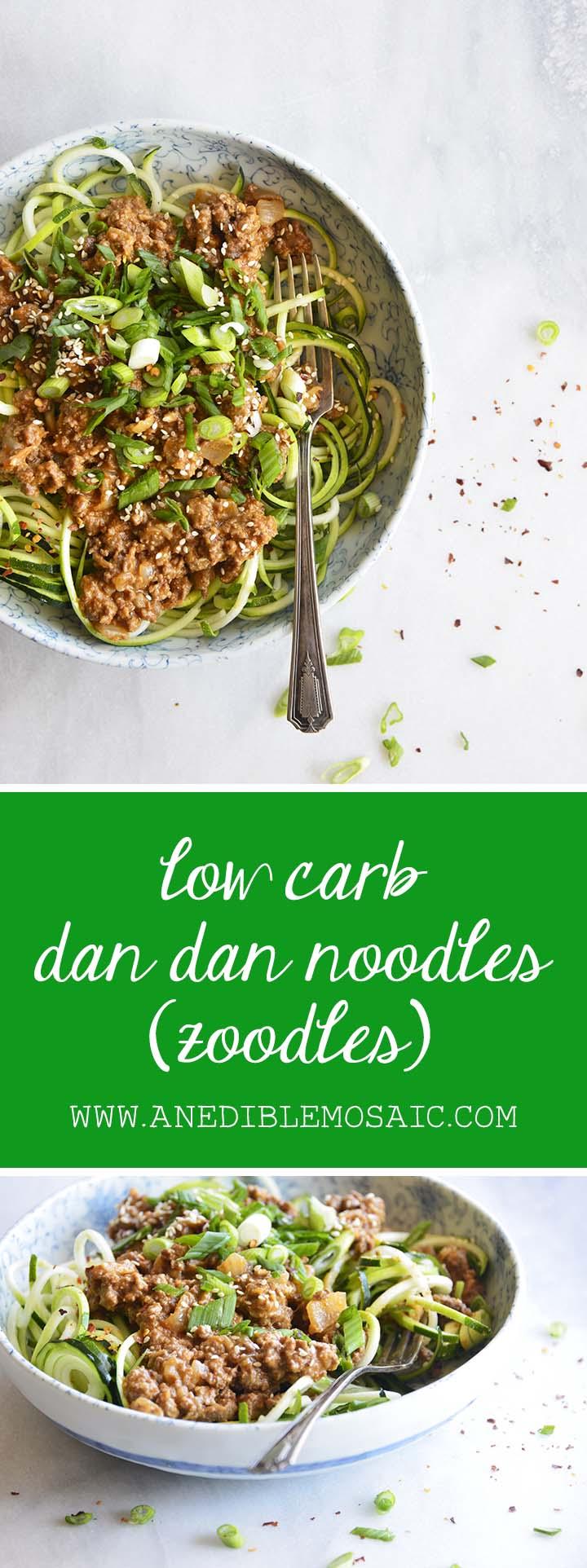 Low Carb Dan Dan Noodles aka Dan Dan Mian Pin