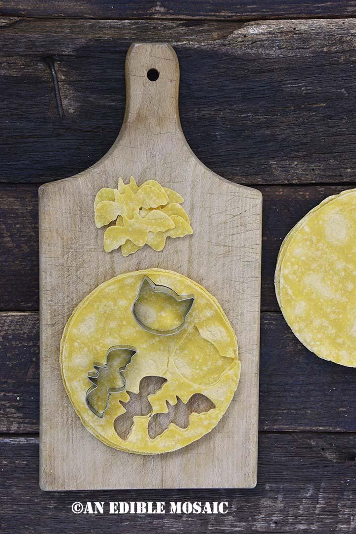 Cut Out Festive Shapes in Corn Tortillas