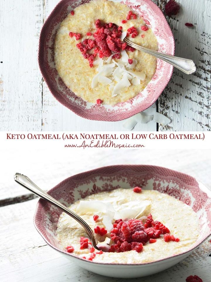 Keto Oatmeal (aka Noatmeal or Low Carb Oatmeal) Pinnable Image