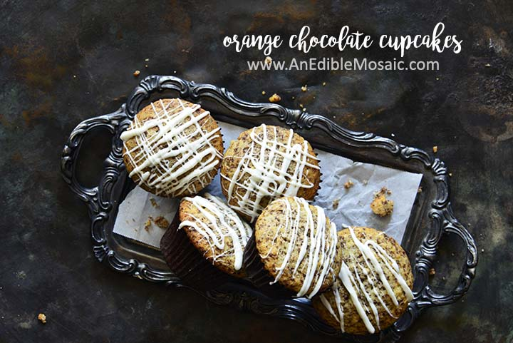 Orange Chocolate Cupcakes with Description