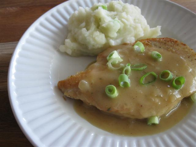 Chicken Cutlets with Apple-Onion Pan Sauce (Recipe Coming Soon!)