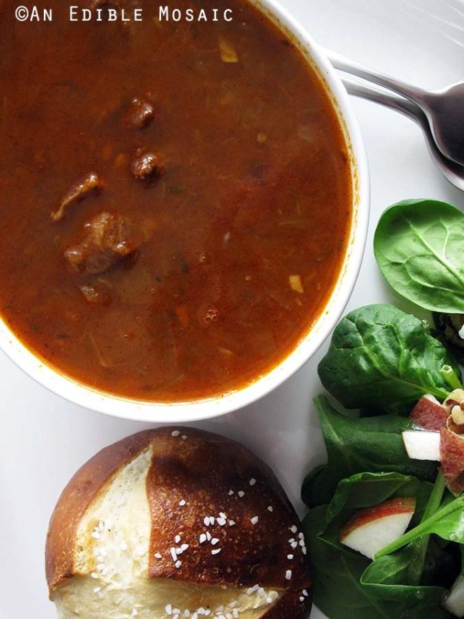 Gulaschsuppe (German Goulash Soup) - An Edible Mosaic™