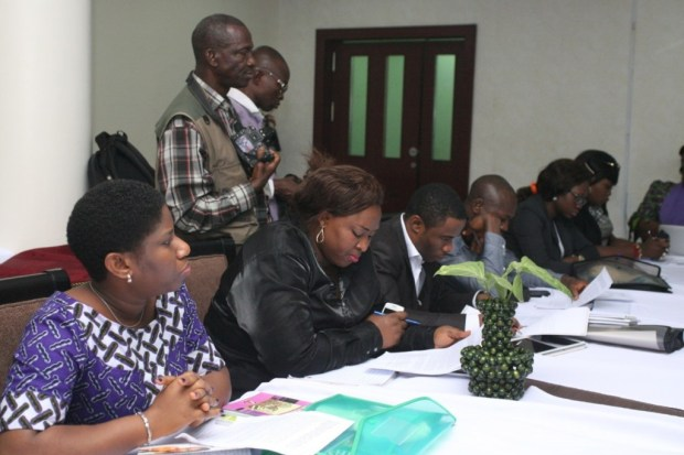 A cross section of participants at the inception meeting