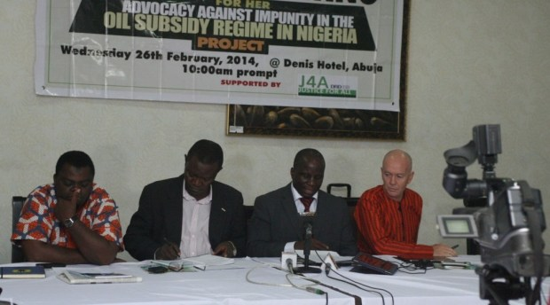 Rev. David Ugolor addressing the press