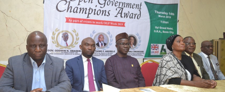 WE STAND BY OUR OPEN GOVERNMENT CHAMPIONS AWARDS TO GOV OBASEKI, OTHERS
