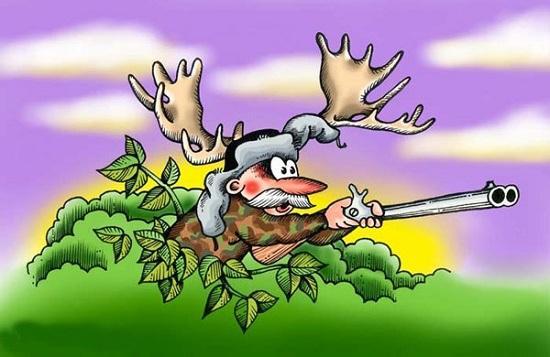 Карикатуры про охоту и рыбалку | Мир анекдотов
