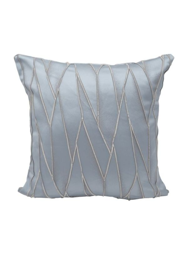 Grey Satin/Silk Printed Cushion Cover