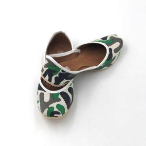 Green Grey Camouflage Jutti & Ballerina