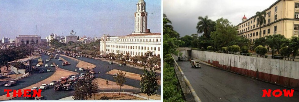 Manila City Hall then and now