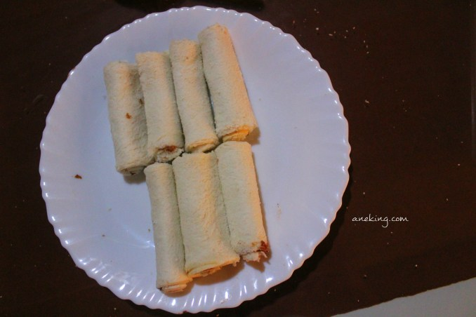 5. Roll them and set them aside.