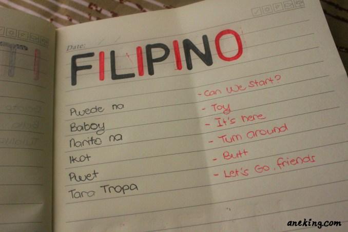 filipino minion language