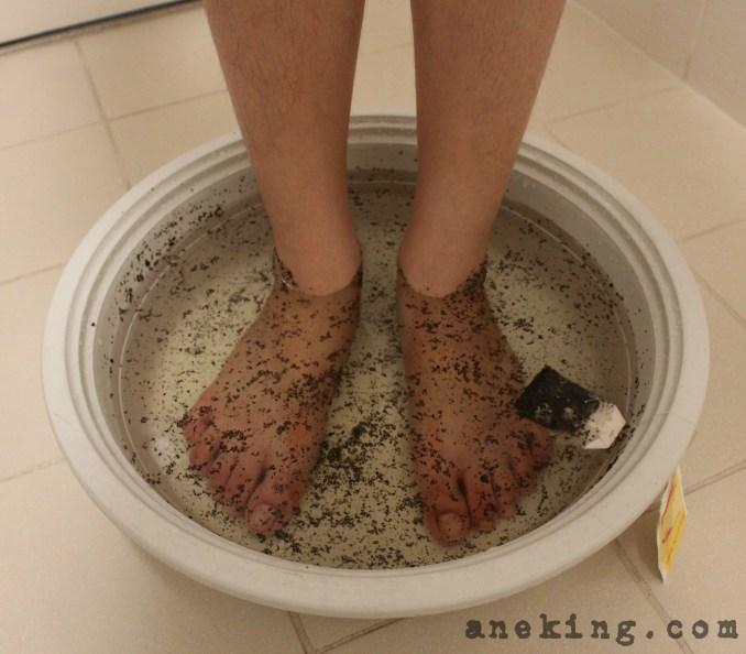 tea bag as foot soak