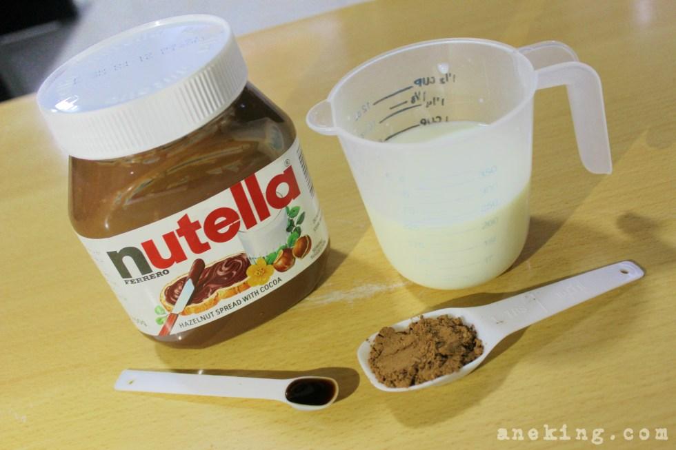 hot nutella chocolate step 1