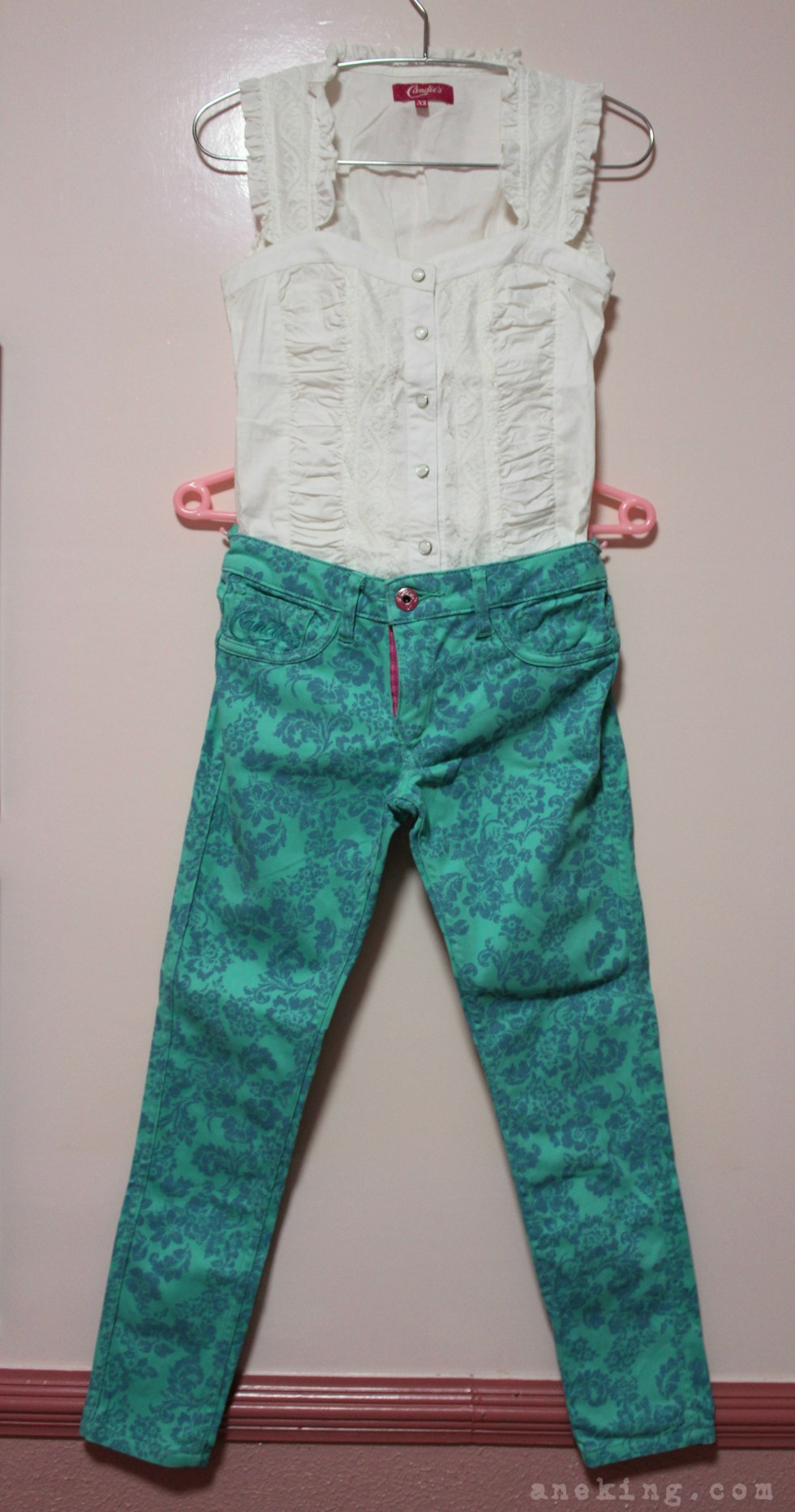 candies top and irreversible pants