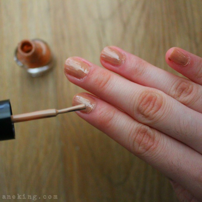 eyeshadow nail polish step 8