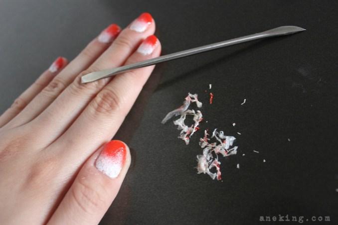 gradient nail polish step 7