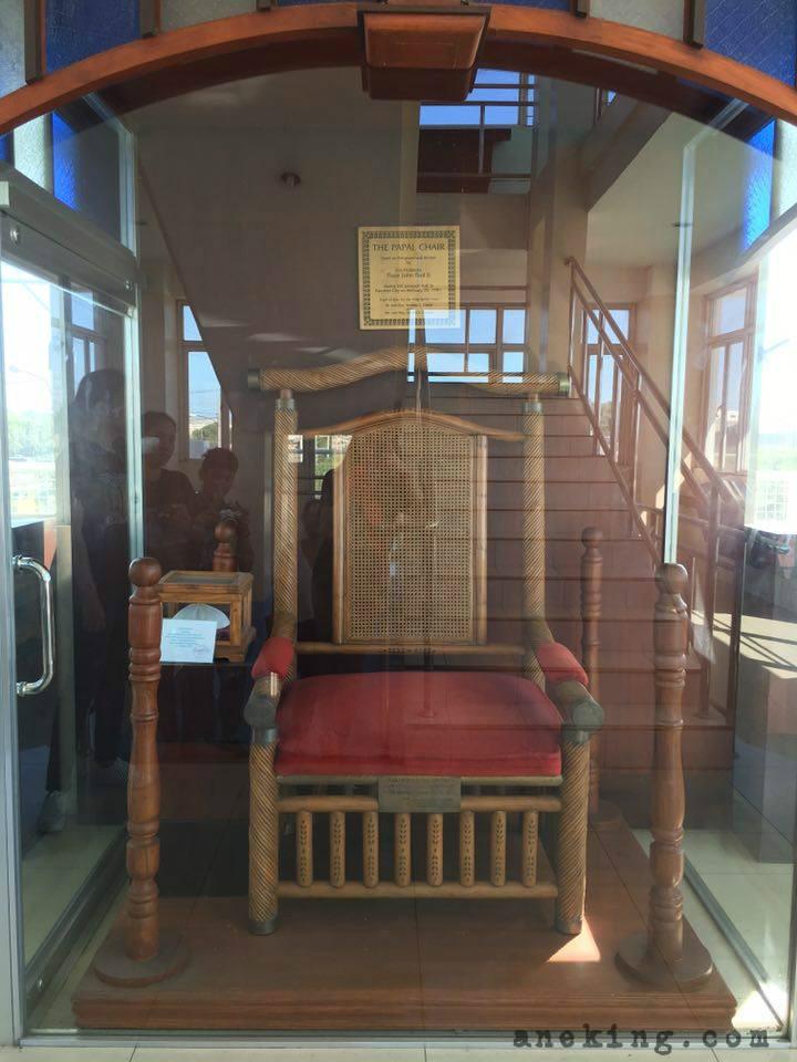 3 Pope John Paul II tower papal chair