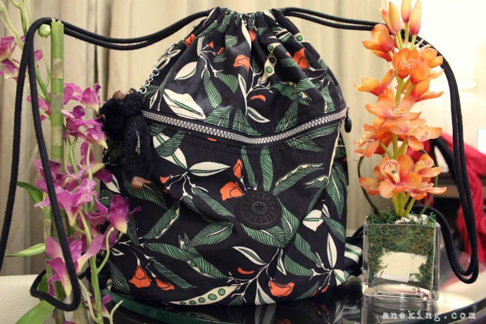 kipling-floral-drawstring-bag