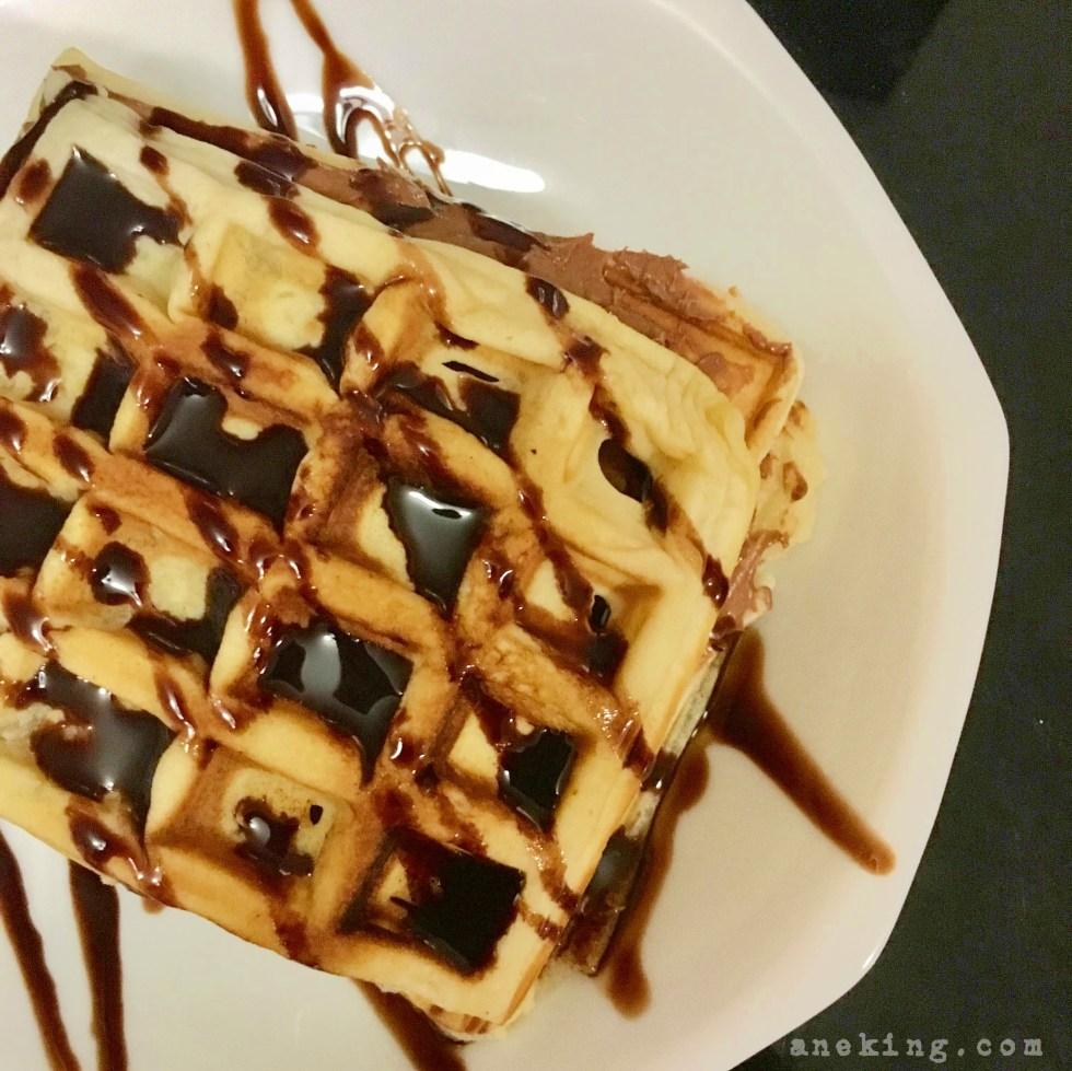 how to make hazelnut waffle