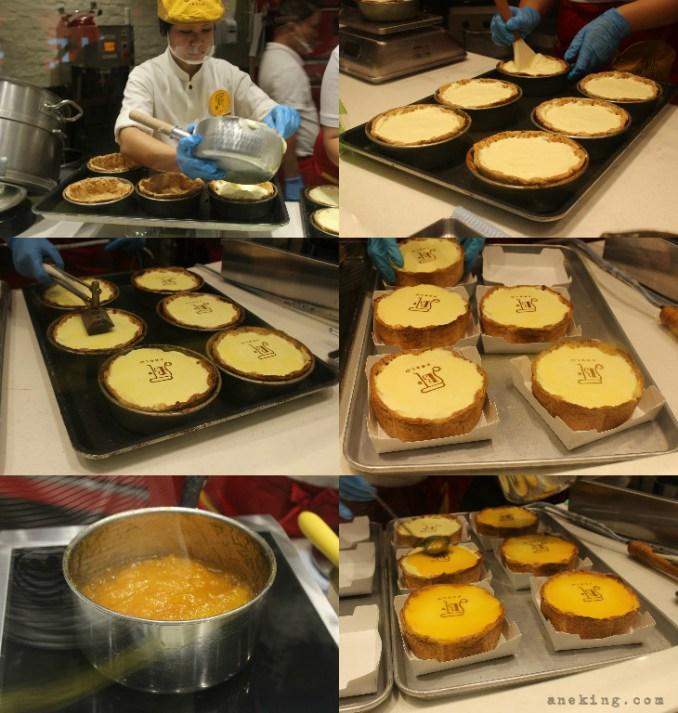 making pablo cheesetart