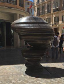Modern sculpture in Malaga, Spain