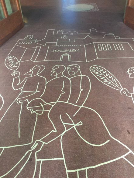 Floor art at Familia Sagrada, Barcelona